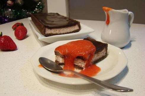 טארט תותים ושוקולד
